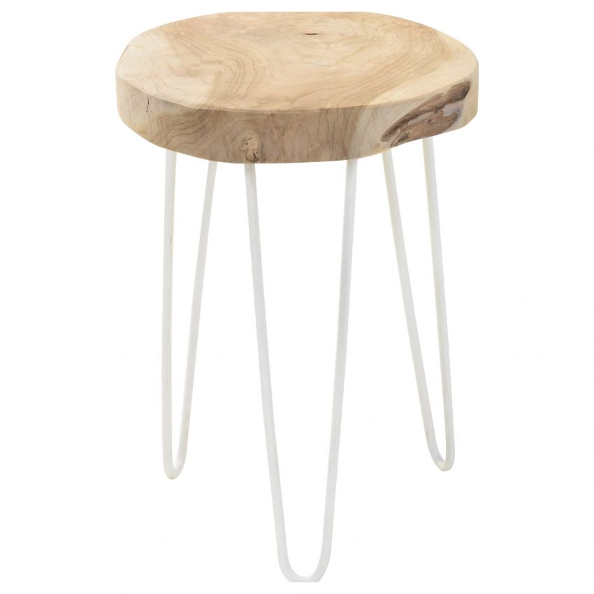Eiffel Teakwood Stool Side table