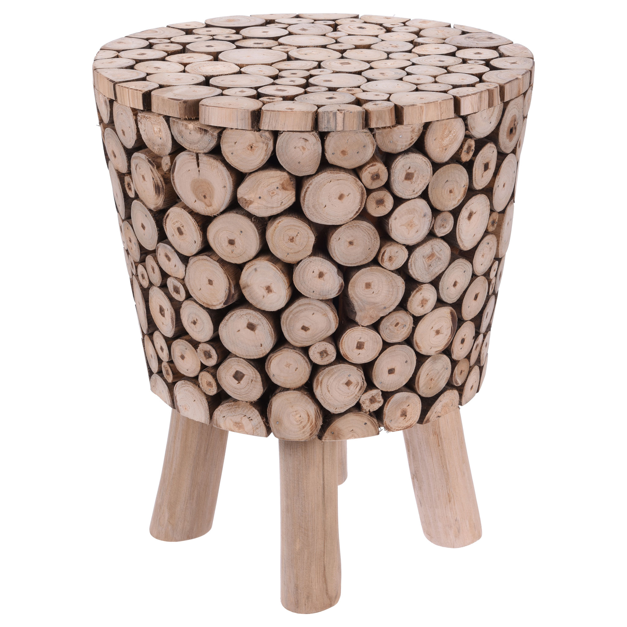 Eiffel Teak branches Stool / Side table