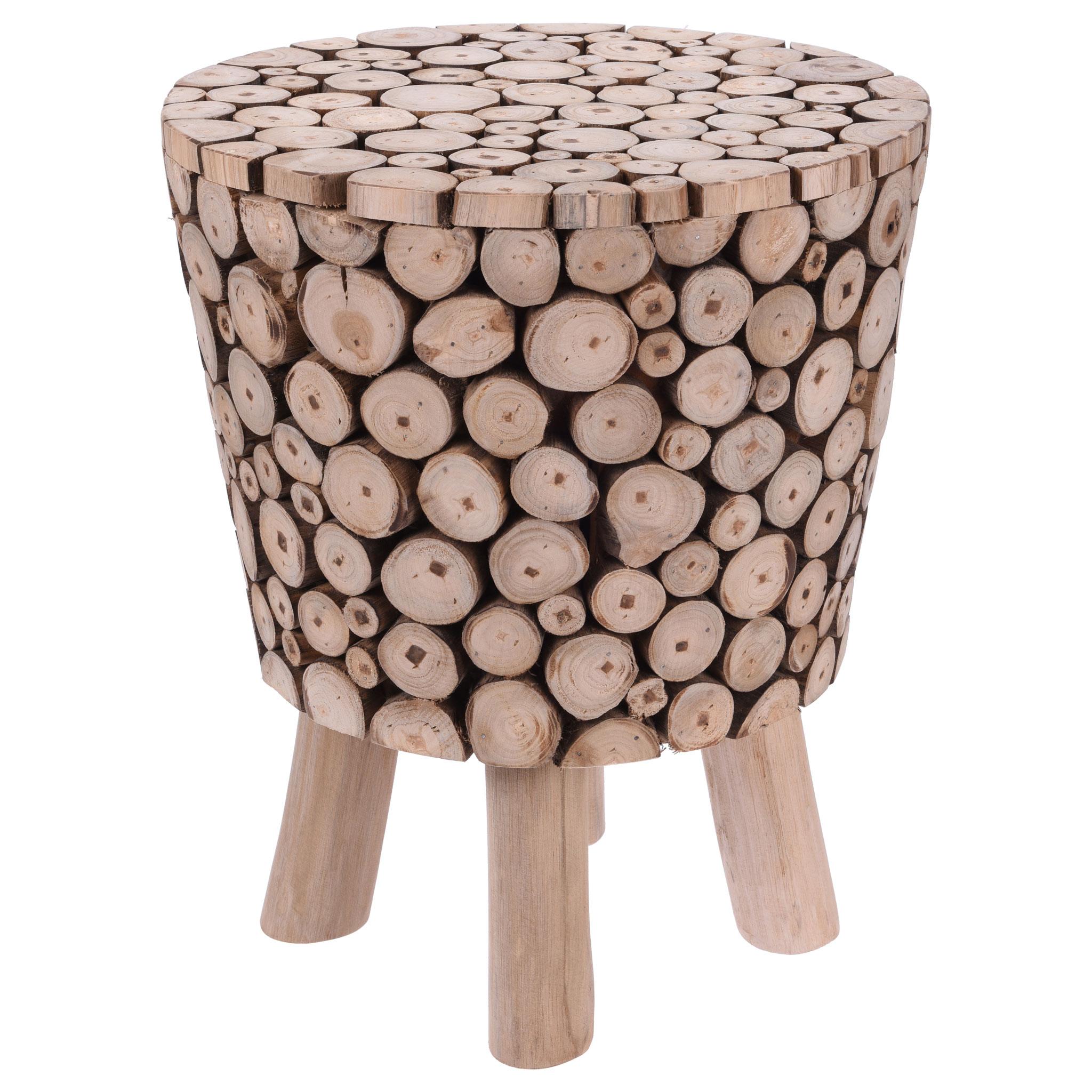 Eiffel Teak branches Stool / Side table