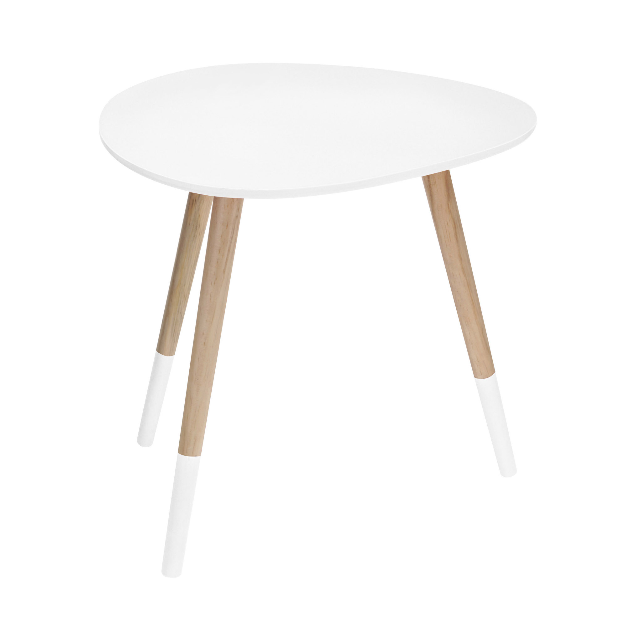 White Egg Shape Side Table