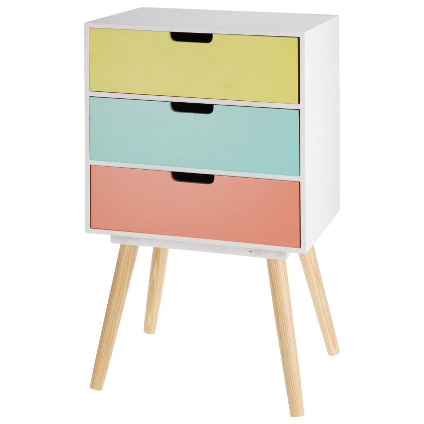 Colour Block Bed side Table