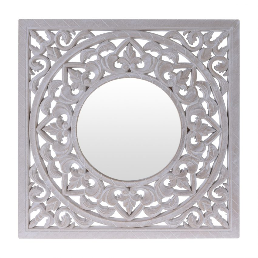 Square Antique Morocco Mirror