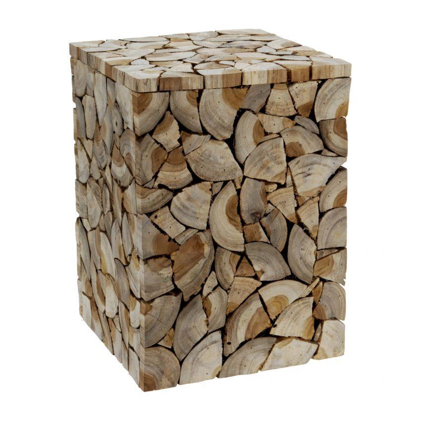 Indi Teak wood Stool