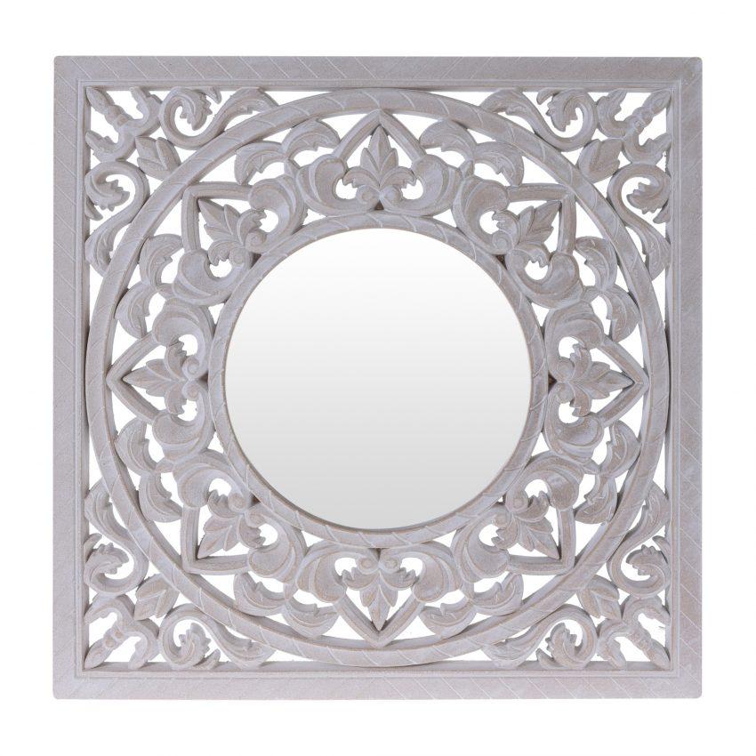 Square Antique Morocco Mirror